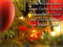 Frohe Weihnachten,  einen Guten Rutsch,  Gesundheit, Glück  und Zufriedenheit  im Neuen Jahr!,