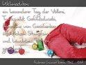 Weihnachten: ein besonderer Tag der Völlerei,  Trunksucht, Gefühlsduselei, Annahme von Geschenken,  öffentlichem Stumpfsinn und häuslichem Protzen gewidmet.  Ambrose Gwinnet Bierce (1842 - 1914)    Dieses Kartenmotiv wurde am 23. Dezember 2008 neu in die Kategorie Weihnachtskarten aufgenommen.