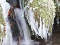 Wasserfall mit Eiszapfen