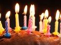 Kuchen mit Kerzen