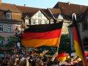 Deutschlandflaggen auf dem Göttinger Marktplatz