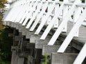 Detailaufnahme einer Holzbrücke
