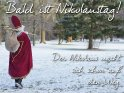 Bald ist Nikolaustag!  Der Nikolaus macht sich schon auf den Weg.
