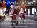 Fröhliche Festtage!  Wenn es keine Weiße Weihnacht  gibt, muss der Weihnachtsmann  halt improvisieren!