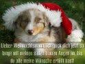 Lieber Weihnachtsmann, ich guck dich jetzt so  lange mit meinen süßen blauen Augen an, bis  du alle meine Wünsche erfüllt hast!    Dieses Motiv wurde am 15. Dezember 2012 in die Kategorie Lustige Advents & Weihnachtskarten eingefügt.