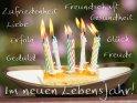 Zufriedenheit  Liebe  Erfolg  Geduld  Freundschaft  Gesundheit  Glück  Freude  Im neuen Lebensjahr!
