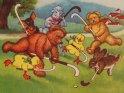 Hockeyspielende Tiere von Arthur Thiele (1860-1936)