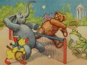 Tennisspielende Tiere von Arthur Thiele (1860-1936)
