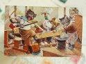 In der Pause  Antike Postkarte mit einem Motiv von Arthur Thiele (1860-1936).