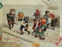 Das schlechte Zeugnis  Antike Postkarte mit einem Motiv von Arthur Thiele (1860-1936).