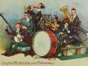 Herzliche Glückwünsche zum Geburtstage!  Antike Postkarte mit einem Motiv von Arthur Thiele (1860-1936).
