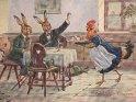 Fröhliche Ostern!  Antike Postkarte mit einem Motiv von Arthur Thiele (1860-1936)