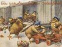 Ein wunderschönes Osterfest!  Antike Postkarte mit einem Motiv von Arthur Thiele (1860-1936)