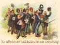 Die allerbesten Glückwünsche zum Geburtstag!  Antike Postkarte mit einem Motiv von Arthur Thiele (1860-1936)