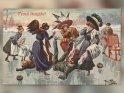 Prosit Neujahr!  Antike Postkarte mit einem Motiv von Arthur Thiele (1860-1936)    Dieses Motiv befindet sich seit dem 27. Dezember 2013 in der Kategorie Antike Silvester & Neujahrskarten.