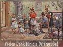 Vielen Dank für die Ostergrüße!  Antike Postkarte mit einem Motiv von Arthur Thiele (1860-1936)