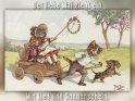 Der liebe Mai zieht ein mit Lied und Sonnenschein.    Antike Postkarte mit einem Motiv von Arthur Thiele (1860-1936)