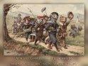 Viele Grüße zu einem wunderschönen Vatertag!    Antike Postkarte mit einem Motiv von Arthur Thiele (1860-1936)