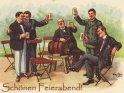 Schönen Feierabend!    Antike Postkarte mit einem Motiv von Arthur Thiele (1860-1936)