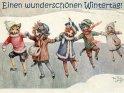 Einen wunderschönen Wintertag!    Antike Postkarte mit einem Motiv von Arthur Thiele (1860-1936).
