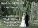 Herzlichen Glückwunsch zur Hochzeit! Gesundheit, Liebe, Erfolg, Zufriedenheit, Freundschaft und Glück für die Zukunft!