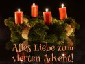 Alles Liebe zum vierten Advent!    Dieses Motiv findet sich seit dem 19. Dezember 2013 in der Kategorie Adventskarten.