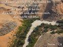 Und muss ich auch durchs finstere Tal,  ich fürchte kein Unheil!  Du Gott, bist ja bei mir,  du schützt mich und du führst mich,  das macht mir Mut!  Psalm 23, 4