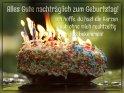 Alles Gute nachträglich zum Geburtstag!  Ich hoffe, du hast die Kerzen  auch ohne mich rechtzeitig  aus bekommen!    Aus der Kategorie Nachträgliche Geburtstagsgrüße