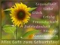 Alles Gute zum Geburtstag!  Gesundheit, Liebe, Glück,  Erfolg, Freundschaft,  Zufriedenheit, Freude  und Sonnenschein