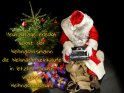 Heutzutage erledigt selbst der Weihnachtsmann die Weihnachtseinkäufe in letzter Minute unterm Weihnachtsbaum!