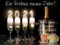 Ein frohes neues Jahr!  Glück, Liebe  Gesundheit,  Erfolg, Geduld,  Zufriedenheit  und  Freundschaft!    Dieses Motiv findet sich seit dem 29. Dezember 2020 in der Kategorie Silvester & Neujahrskarten.