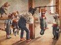 Katzen beim Sport  Antike Postkarte mit einem Motiv von Arthur Thiele (1860-1936)