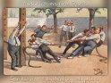Natürlich mag ich Sport.  Ich könnte stundenlang zugucken!    Antike Postkarte mit einem Motiv von Arthur Thiele (1860-1936)