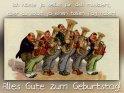 Ich hätte ja selbst für dich musiziert,  aber du sollst ja einen tollen Tag haben!  Alles Gute zum Geburtstag!    Antike Postkarte mit einem Motiv von Arthur Thiele (1860-1936)    Aus der Kategorie Antike Geburtstagskarten