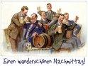 Einen wunderschönen Nachmittag!  Antike Postkarte mit einem Motiv von Arthur Thiele (1860-1936)