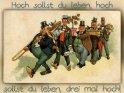 Hoch sollst du leben, hoch sollst du leben, drei mal hoch!    Antike Postkarte mit einem Motiv von Arthur Thiele (1860-1936)