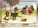 Endlich Ferien! Zeit, den Sommer zu genießen!  Antike Postkarte mit einem Motiv von Arthur Thiele (1860-1936)