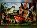 Fröhliche Pfingsten!    Antike Postkarte mit einem Motiv von Arthur Thiele (1860-1936)