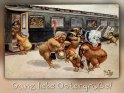 Ganz liebe Ostergrüße!    Antike Postkarte mit einem Motiv von Arthur Thiele (1860-1936)