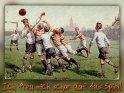 Ich freu mich schon auf das Spiel!  Antike Postkarte mit einem Motiv von Arthur Thiele (1860-1936)