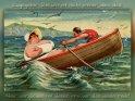 Zugegeben: Bei uns ist nicht immer alles ideal.  Aber verglichen mit denen sind wir das ideale Paar!  Antike Postkarte mit einem Motiv von Arthur Thiele (1860-1936)