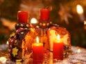 Adventskuchen mit zwei brennenden Kerzen zum 2. Advent    Dieses Kartenmotiv ist seit dem 01. Dezember 2016 in der Kategorie Adventskränze.
