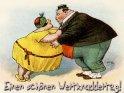Einen schönen Weltknuddeltag!  Antike Postkarte mit einem Motiv von Arthur Thiele (1860-1936)