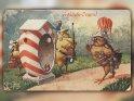 Fröhliche Ostern!  Antike Osterkarte mit einem Motiv von Arthur Thiele (1860-1936)