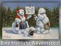 Eine fröhliche Adventszeit!    Antike Postkarte mit einem Motiv von Arthur Thiele (1860-1936)