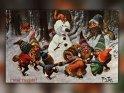 Prosit Neujahr!  Antike Postkarte mit einem Motiv von Arthur Thiele (1860-1936)