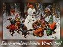 Einen wunderschönen Wintertag!  Antike Postkarte mit einem Motiv von Arthur Thiele (1860-1936)