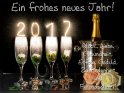 Ein frohes neues Jahr!  Glück, Liebe  Gesundheit,  Erfolg, Geduld,  Zufriedenheit  und  Freundschaft!    Dieses Kartenmotiv ist seit dem 28. Dezember 2016 in der Kategorie Silvester & Neujahrskarten.