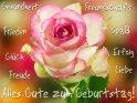 Alles Gute zum Geburtstag!  Gesundheit  Freundschaft  Frieden  Spaß  Glück  Erfolg  Freude  Liebe    Aus der Kategorie Geburtstagskarten für Blumenliebhaber