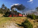 Dampflok im Harz auf dem Weg hinauf zum Brocken